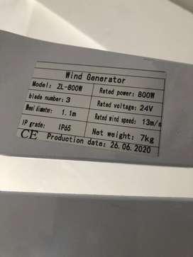 Aerogenerador 800 whats