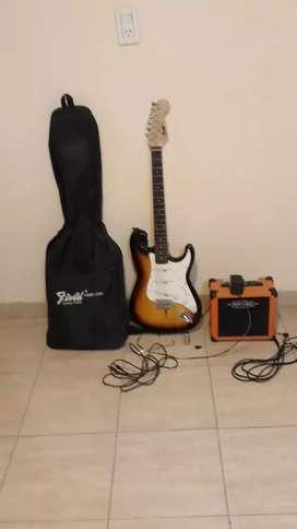 Vendo guitarra electrica( sin una cuerda)+parlante+un slide+una pua+un vibrato