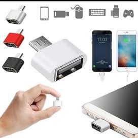 Adaptador USB OTG, Micro USB a USB, para Tablet Android o PC.