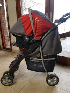 Carrito de bebé Kiddy, con Huevito y capota para lluvia