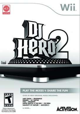 juego wii dJ HERO 2 usado