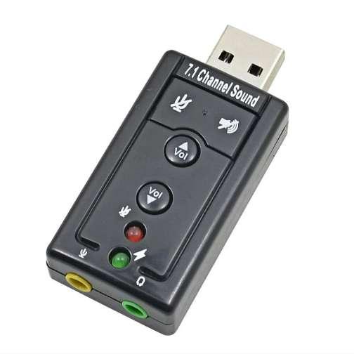 PLACA DE AUDIO USB EXTERNA 7.1 SONIDO Pc Tarjeta Sonido NOTEBOOK NO NECESITA INSTALACIÓN  ENVÍOS
