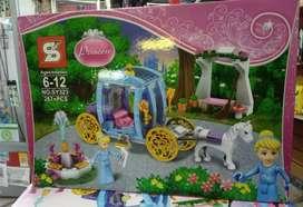 Lego simil de carruaje y princesa