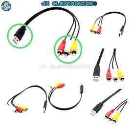 Cable Adaptador USB 2.0 a RCA 25cm Resistente, USB a RCA Macho