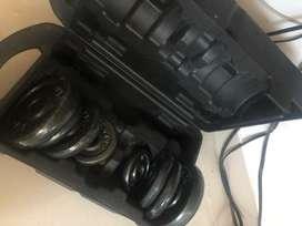 Kit de pesas mas accesorios