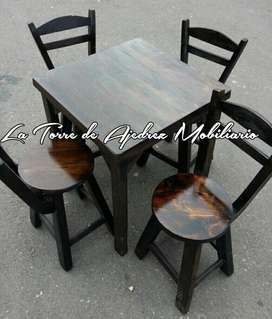 Sillas mesas cafetera bar nuevos