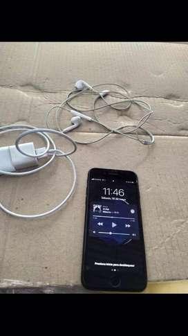 Vendo iphone 7 negro mate de 128 gb
