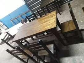 Juego de comedor pino macizo 6 sillas