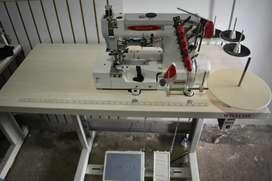 Máquina recubridora y fileteadora industriales marca willcox