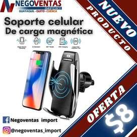 SOPORTE DE TELÉFONO CON CARGADOR INALÁMBRICO EN OFERTA ÚNICA DE NEGOVENTAS