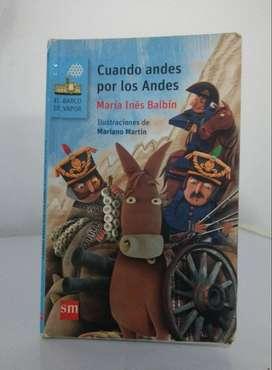 *Cuando andes por los Andes* María Inés Balbín - Ediciones SM Literatura - El barco de vapor