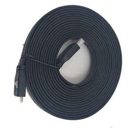 Cable Hdmi Plano 1.4ver 3d, Ultra Hd, De 5mts