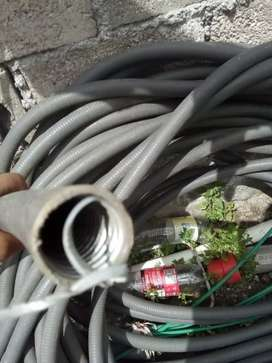 Mangera bx reforzada con metal por dentro para cableados de fibra o luz