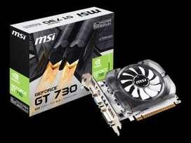 MSI GFORCE GT-730 2GB GDDR3 Hdmi Dvi Vga NUEVAS -ENVÍO GRATIS