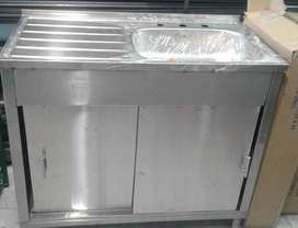 Lavaplatos con Gabinete o alacena en acero