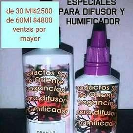 Esencias hidrosolubles para difusor y humificador