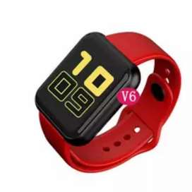Smartwatch V6 2021 WhatsApp Twitter Instagram Facebook música personalizable hombre mujer niño