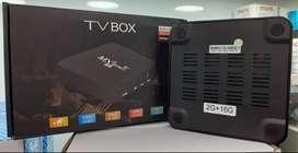 Mini Tv Box 4k Ram 2gb Dd 16gb + teclado