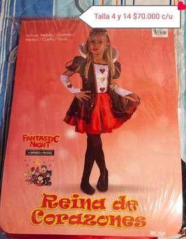 DISFRAZ REINA DE CORAZONES FANTASTIC NIGHT TALLAS 4 Y 14