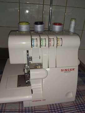 vendo maquina SINGER 4 hilos