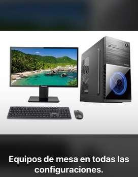 Computadores de mesa en todas las referencias