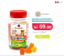 Multivitaminico en Gomitas para niños