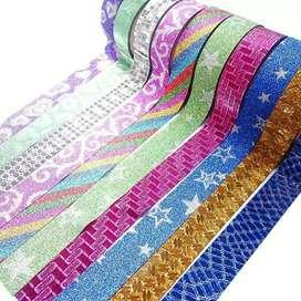 Pack X 10 Cinta Adhesiva Colores Diseños