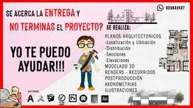 TRABAJOS DE ARQUITECTURA . ELABORACIÓN DE PLANOS RENDER 3D MODELADO Y RECORRIDOS VIRTUALES -  PROYECTOS ESTUDIANTES