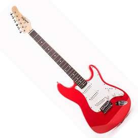Guitarra Konige LAST32RD Music Box Colombia electrica Stratocaster Rojo