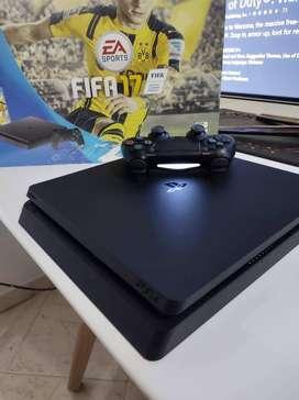 PS$ Slim 500gb con control, caja y cables.