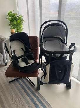 Coche para bebe 2 en 1 marca CAM Italiana
