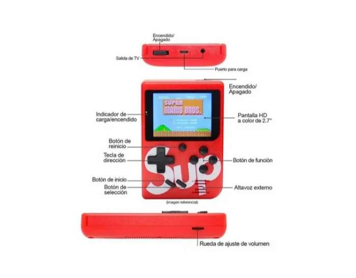 Mini Consola Sup 400 Juegos En 1 Game Box + Control 400