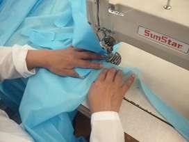 Empresa confección ropa quirúrgica desechable, solicita operarias máquina plana y filete.