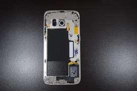 Marco, Bizel Medio Repuesto Samsung S6 Edge Dorado