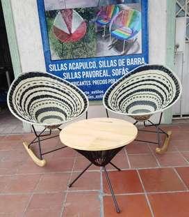 Silla Acapulco mecedora balanza en madera