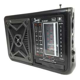 Radio Multibandas Am Fm Usb Bluetooth Recargable ¡ Mp3!