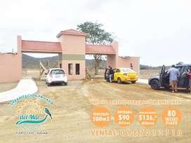 Credito Directo, venta de lotes en la playa, a 30 minutos de Puerto Lopez, Puerto Cayo Manabi, SD1