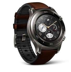 Reloj Huawei Watch 2 Classic Titanium smarwatch clasico wear os 45mm inteligente gps ritmo cardiaco pasos carátulas 2020