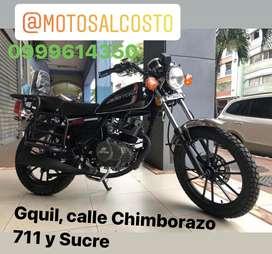 Moto Daytona Crucero 200cc con Conotrapeso en el motor y Puerto Usb, Parillas Laterales y Respaldar, Reposapies y Parill