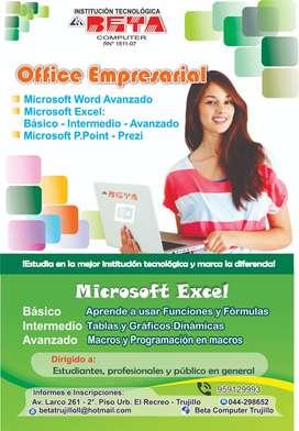 Se dicta Office Empresarial -  Excel Básico, Intermedio y Avanzado