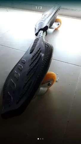 Patineta de dos ruedas.