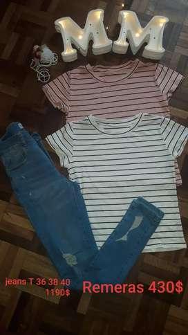 (Indumentaria Femenina) Jeans elastizado Varios talles