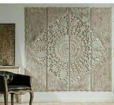 Paneles, cuadros y mandalas tallados a mano en madera 0