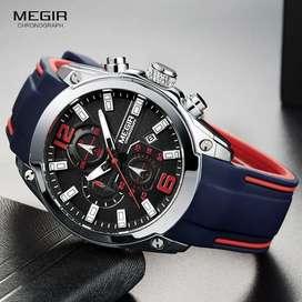 Reloj Cronografo Deportivo Megir Original en Caja