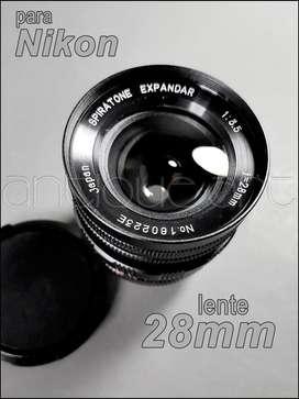 A64 Lente 28mm F1:3.5 Nikon Spiratone Expandar Cine Foto