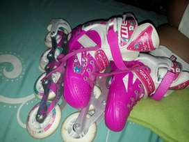 Patines canariam Roller pink