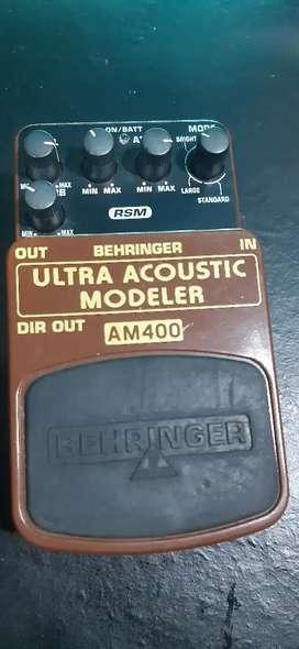 Pedal ultra acoustic modeler