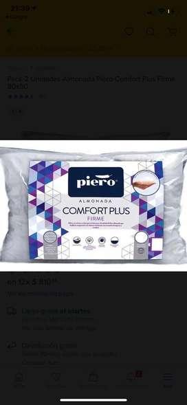 Conjunto de almohadas marca Piero 80x 50(queen)