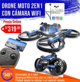 Drone y motocicleta 2en1 con cámara