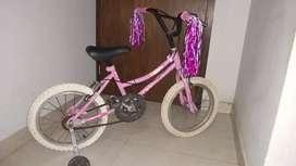 Vendo Bicicleta nena rodado 16